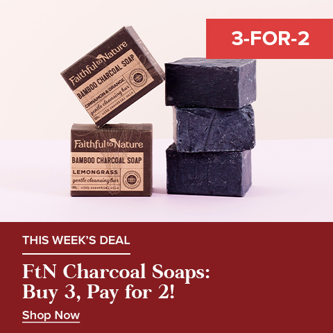 Buy 3 FtN Charcoal Soaps & Get the Cheapest FREE