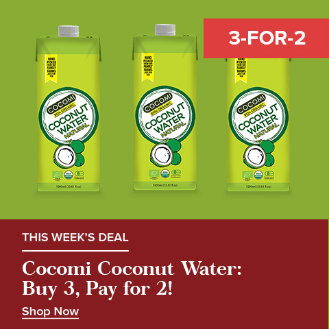 3 For the Price of 2 on Cocomi - Coconut Water - Natural 1l