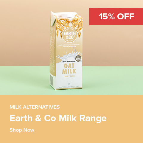 15% off Earth & Co Milk