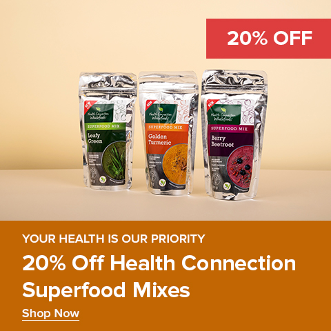 20% off Health connection Superfood Mixes