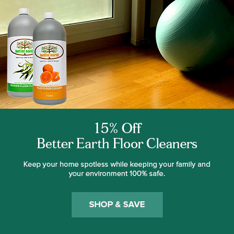 15% Off Better Earth Floor Cleaners