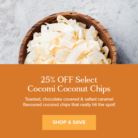 25% Off Select Cocomi Coconut Chips