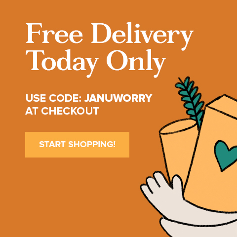 Free Delivery With Discount Code JANUWORRY
