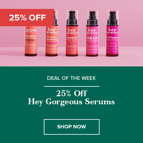 25% Off Hey Gorgeous Serums