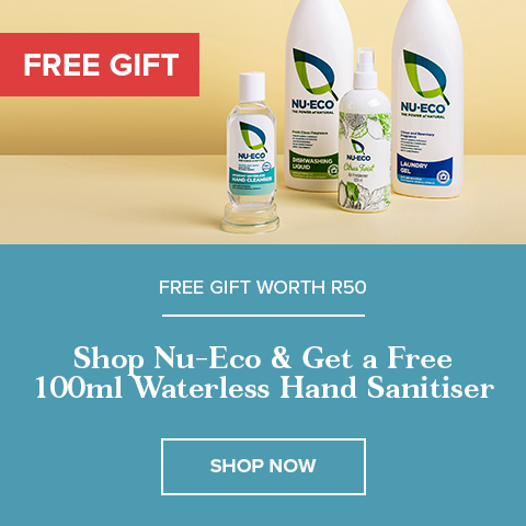 Buy Any Nu-eco Product and Get a FREE 100ml Waterless Hand Sanitiser