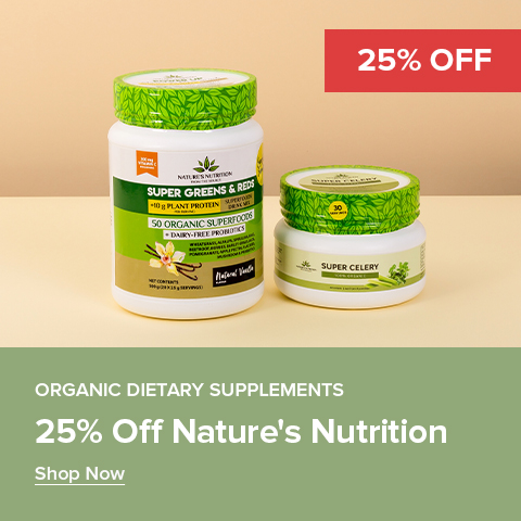 25% Off Nature's Nutrition