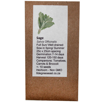 6 Degrees East Heirloom Herb Seeds - Sage