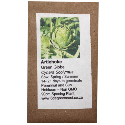 6 Degrees East Heirloom Veg Seeds - Artichoke - Green Globe