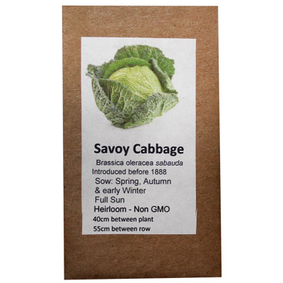 6 Degrees East Heirloom Veg Seeds - Cabbage - Savoy