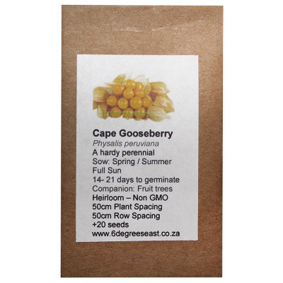 6 Degrees East Heirloom Veg Seeds - Cape Gooseberry