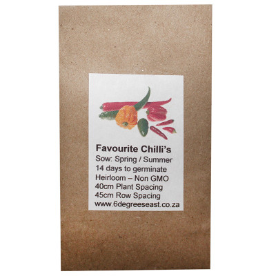 6 Degrees East Heirloom Veg Seeds - Chilli - Favourite Mix