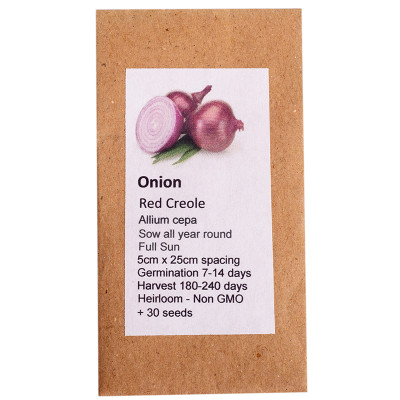 6 Degrees East Heirloom Veg Seeds - Onion - Red Creole