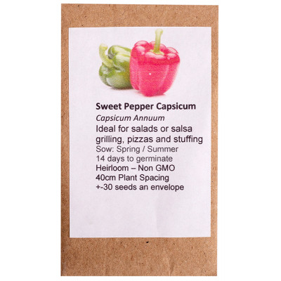 6 Degrees East Heirloom Veg Seeds - Pepper - California Wonder - Red & Green