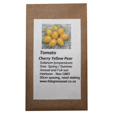 6 Degrees East Heirloom Veg Seeds - Tomato - Cherry Yellow Pear