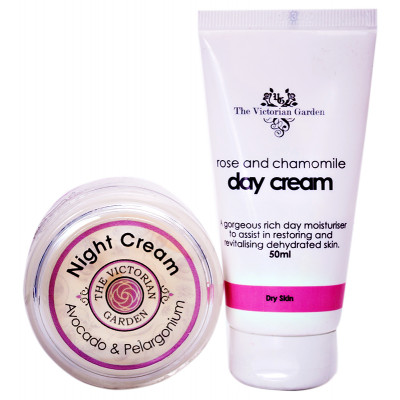 Victorian Garden Rose Day Cream PLUS Avocado Night Cream VALUE PACK