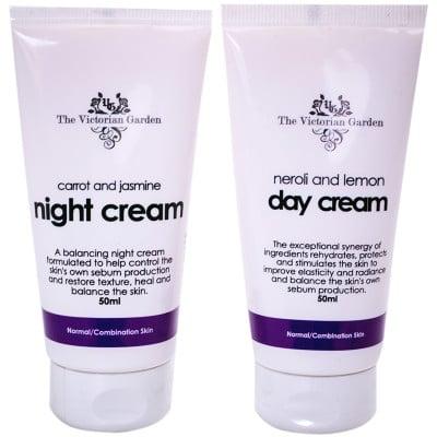 Neroli & Lemon Day Cream & Carrot & Jasmine Night Cream - Value Pack