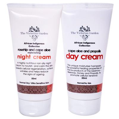 Victorian Garden Aloe/Propolis Day PLUS Aloe/Rosehip Night Cream VALUE PACK