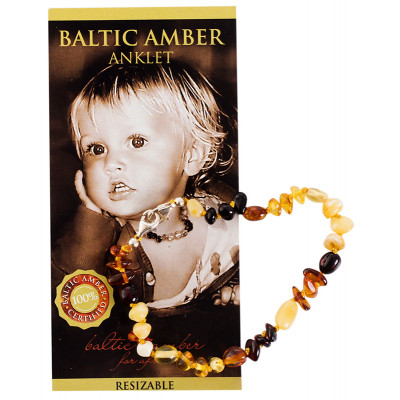 Baltic Amber for Africa Baby Anklet - Mixed