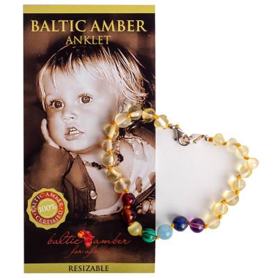 Baltic Amber for Africa Baby Lemon Chakra Anklet