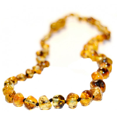 Baltic Amber for Africa Green Teething Necklace