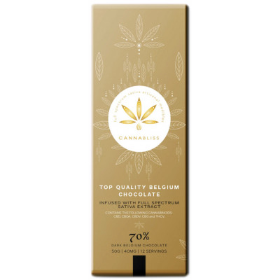 CannaBliss Medibles CBD Chocolate - Gold