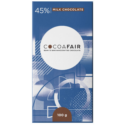 CocoaFair 45% Milk Chocolate,