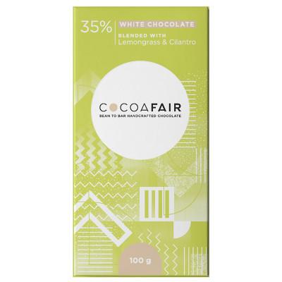 Cocoafair Lemongrass & Cilantro White Chocolate