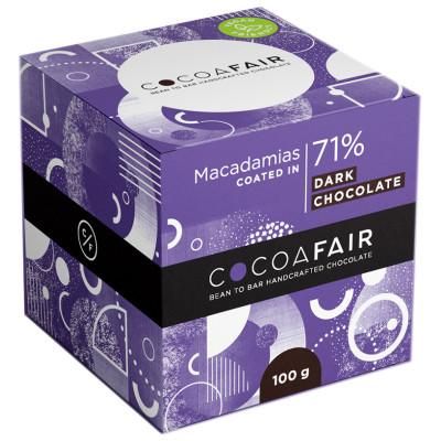 Cocoafair Macadamias in 71% Dark Chocolate