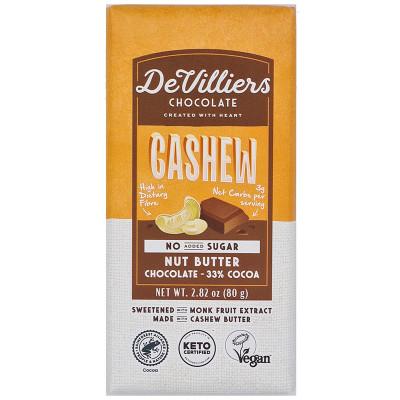 De Villiers No-Added-Sugar Cashew Nut Butter Chocolate