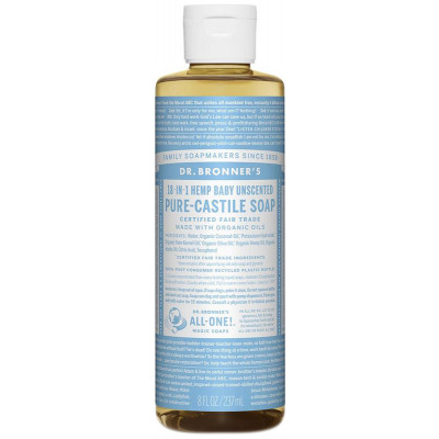 Dr. Bronner's Pure Castile Liquid Soap - Baby Unscented