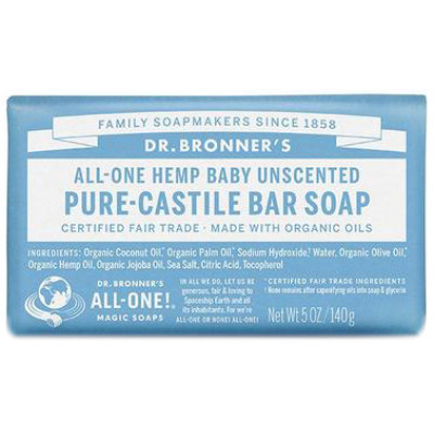 Dr. Bronner's Pure Castile Soap Bar - Baby-Unscented
