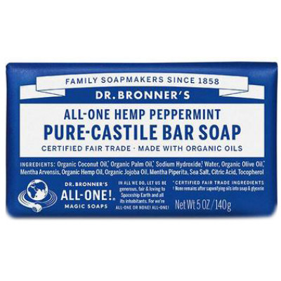 Dr. Bronner's Pure Castile Soap Bar - Peppermint