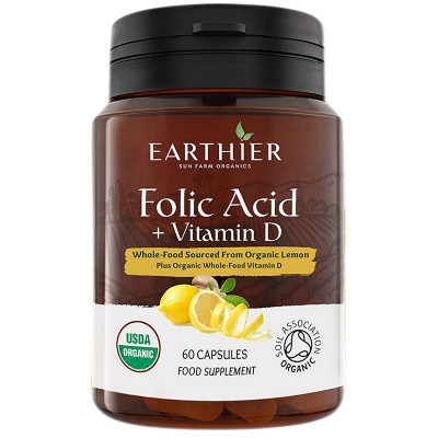 Earthier Organic Folic Acid & Vitamin D