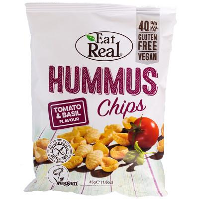 Eat Real Hummus Chips -Tomato & Basil