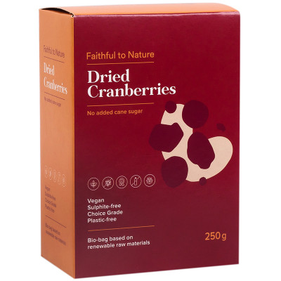 Faithful to Nature Dried Cranberries