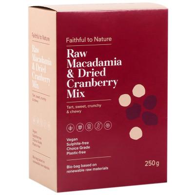 Faithful to Nature Raw Macadamia Nut & Dried Cranberry Mix