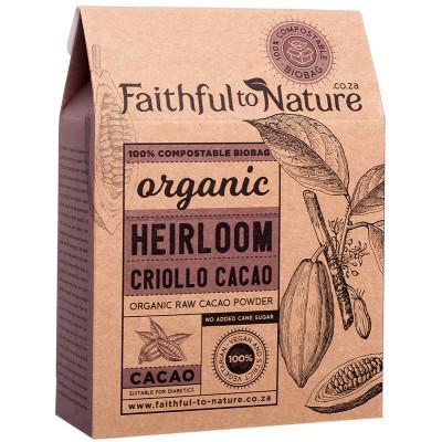 Faithful to Nature Organic Heirloom Criollo Cacao