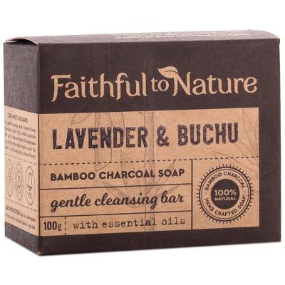 Faithful to Nature Bamboo Charcoal Soap - Lavender & Buchu