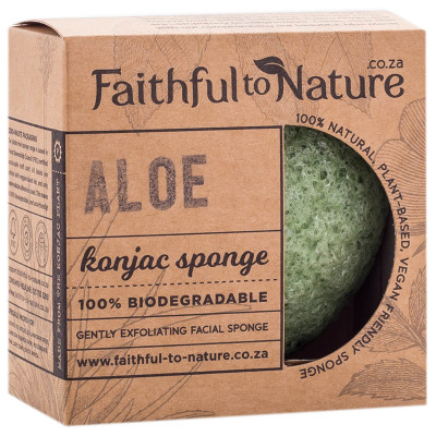 Faithful to Nature Konjac Sponge - Aloe