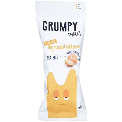 Grumpy Snacks Dry Roasted Chickpeas - Sea Salt
