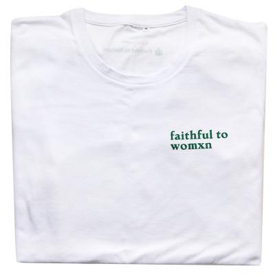 FaithfultoWomxn Men's White T-Shirt