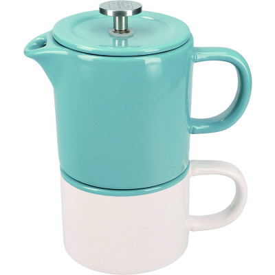 La Cafetiere Barcelona Ceramic Coffee for One - Blue