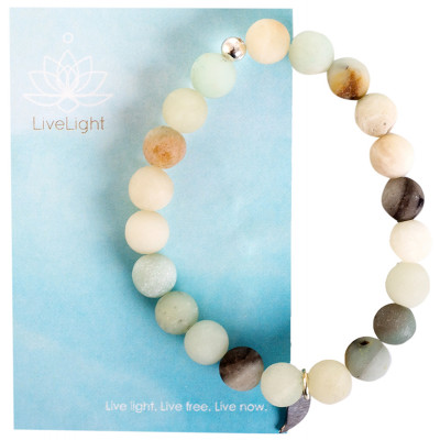 Live Light Amazonite Mala Bracelet