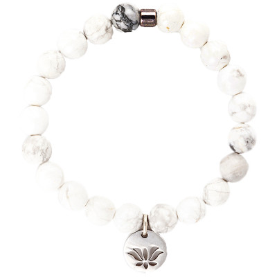 Live Light Howlite Gemstone Bracelet