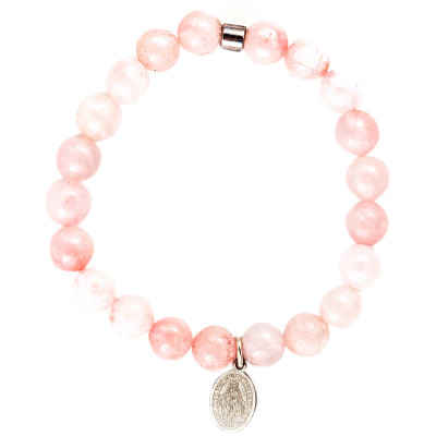 Live Light Rose Quartz Bracelet