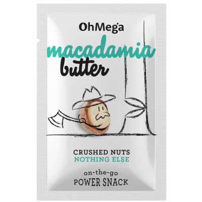 Oh Mega Macadamia Nut Butter 10g Power Snack