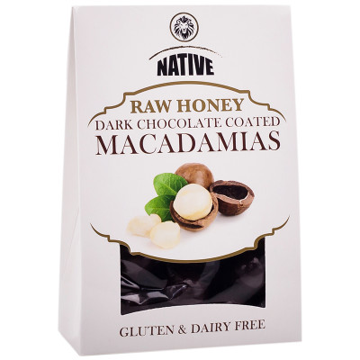 Native Raw Honey Chocolate-Coated Whole Macadamias