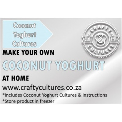 Crafty Cultures Coconut Yoghurt Starter Cultures