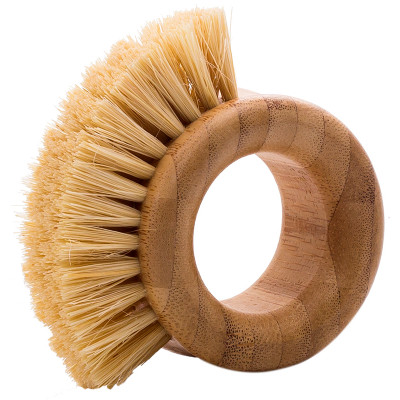 Natural Life Bamboo Scrubbing Brush with Sisal Bristles