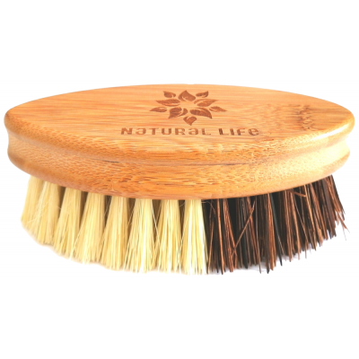 Natural Life Bamboo Scrubbing Brush with Sisal & Palm Fibre Bristles